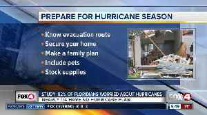 Study: 92% of Floridians worried about Hurricane season [Video]