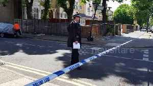 Blood stains the pavement after man fatally stabbed in east London [Video]