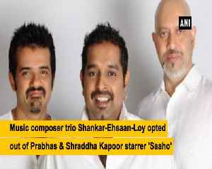 Composers Shankar Ehsaan Loy opt out of Prabhas starrer Saaho [Video]
