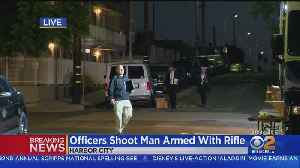 Rifle-Totting Man Shot By LAPD Officers In Harbor City, Second Man Shot Dead Nearby [Video]