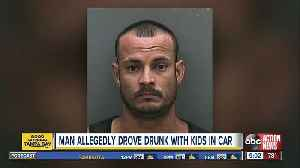 Man arrested for driving drunk with kids in his car on I-75 [Video]