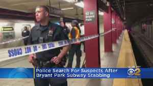 Man Stabbed On D Train Platform In Midtown; Suspects At Large [Video]