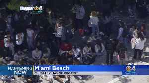 Miami Beach Senior High Students Walk Out For Climate Change [Video]
