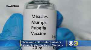 Thousands of US Kindergartners Unvaccinated Without Waivers [Video]