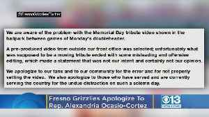 Fresno Grizzlies Apologize To Rep. Alexandria Ocasio-Cortez For 'Misleading And Offensive' Tribute Video [Video]
