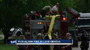 Fire breaks out at Lake Geneva manufacturing plant [Video]