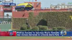 Phillies Salute To Service Night At Citizen Bank Park Tuesday [Video]