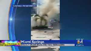 2 High School Students Killed In Fiery Crash In Miami Springs [Video]