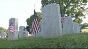 Local Scouts Place Flags at National Cemetery [Video]