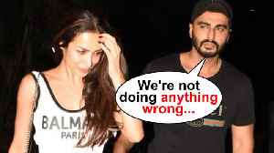 Arjun Kapoor Accepts Affair With Malaika, 'We Are Not Doing Anything Wrong' [Video]