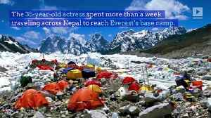 Mandy Moore Successfully Hikes to Mt. Everest Base Camp [Video]