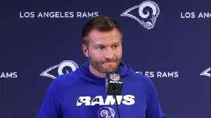 Sean McVay: Los Angeles Rams running back Todd Gurley in Rams building but not doing team drills [Video]
