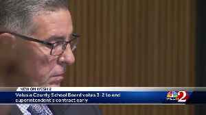 Volusia County School Board votes to end superintendent's contract early [Video]