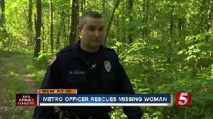 Officer credits his training in rescue of missing elderly woman [Video]