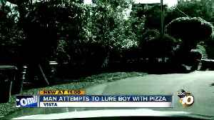 Mom says man tried to lure her son with pizza [Video]