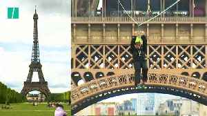 Zipline Installed At The Eiffel Tower [Video]