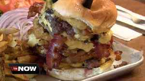 Your meal is free if you finish the Big 'Elm' burger challenge at the Elma Towne Grille [Video]
