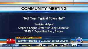 Community meeting to talk about school violence [Video]