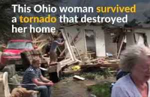 Ohio woman survives tornado that destroyed her house [Video]
