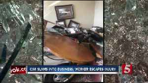 Two sent to hospital after car slams into Murfreesboro business [Video]
