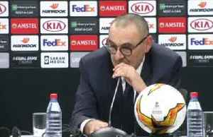 Sarri says Chelsea deserved Europa League win, uncertain about future with club [Video]