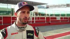 Ducati factory rider Andrea Dovizioso ready to race in DTM - Interview [Video]