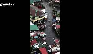 Locals rush to salvage possessions as rainy season floods hit the Philippines [Video]