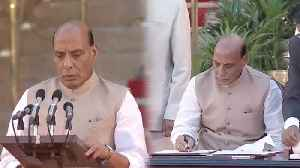 Modi Sarkar 2: BJP Leader Rajnath Singh takes oath | Oneindia News [Video]