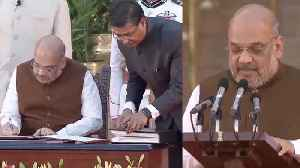 Modi Sarkar 2: BJP Leader Amit Shah takes oath | Watch Video | Oneindia News [Video]