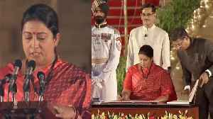 Modi Sarkar 2: BJP Leader Smriti Irani takes oath | Watch Video | Oneindia News [Video]