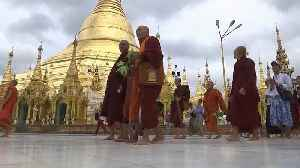 Monks march in Myanmar in support of firebrand preacher [Video]