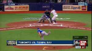 Willy Adames knocks in run in 11th inning helping Tampa Bay Rays beat Toronto Blue Jays 4-3 [Video]