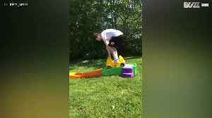 Older brother learns how not to play with siblings' toys [Video]