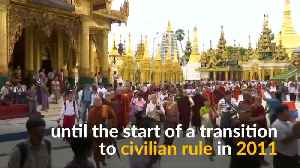Myanmar Buddhist monks protest against Wirathu's arrest warrant [Video]
