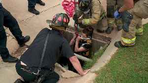 Woman Rescued After Falling 25 Feet Down Storm Drain in Oklahoma City [Video]