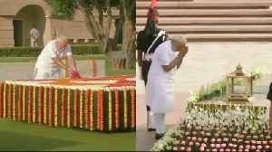 Narendra Modi pays tribute to Mahatma Gandhi, soldiers ahead of swearing-in [Video]
