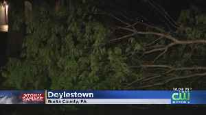 Downed Trees And Power Lines Leave Bucks County Residents In The Dark [Video]