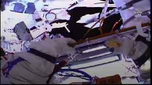 Two Russian cosmonauts conduct spacewalk [Video]