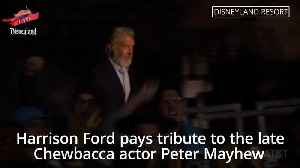 Harrison Ford pays tribute to late Chewbacca actor Peter Mayhew [Video]