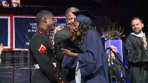 Marine Surprises Sister at High School Graduation, Brings California Teen to Tears [Video]