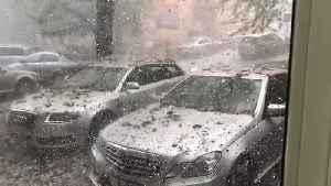 Gigantic Hailstones and Rocks Rain Down on Cars During Storm [Video]