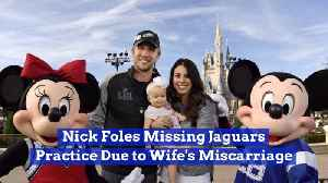 Nick Foles Takes Time Off To Deal With A Difficult Family Issue [Video]