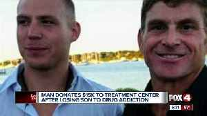 Man donates $15K to treatment center after losing son to drug addiction [Video]