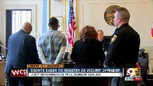 Deonte Baber to register as violent offender [Video]