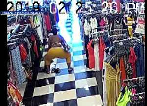 WEB EXTRA: Woman Steals From Clothing Store While Twerking In The Aisles [Video]