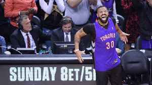 Drake Wears Dell Curry Toronto Raptors Jersey To NBA Finals Game 1 [Video]