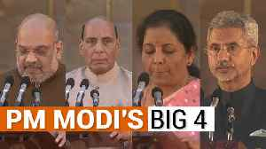 PM Modi's Big 4 | Amit Shah is home minister, Rajnath Singh gets Defence [Video]