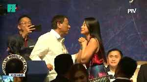 Philippine President Duterte Brings Women On Stage To Kiss Them [Video]