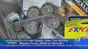 Florida's Tax-Free Holiday On Hurricane Supplies Starts Friday [Video]