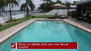 Preparing your pool before a storm   Tracking the Tropics Quick Tip [Video]